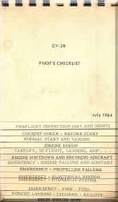 De Havilland CV-2B Caribou Aircraft Pilot's Checklist Manual