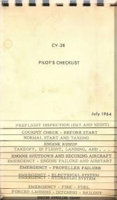 De Havilland CV-2B Caribou Aircraft Pilot's Checklist Manual