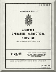 De Havilland DHC-1 Chipmunk Aircraft Operating Manual - EO 05-10B-1 - 1966