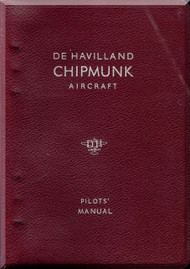 De Havilland Chipmunk Mk.20, 21, 22 and 22A  Aircraft Pilot's Notes Manual - CHK P.N.-1 A.L.9 - 1969