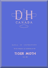 De Havilland  82 C Tiger Moth  Aircraft Instructions for the Operation and Maintenance Manual