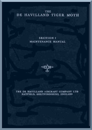 De Havilland Tiger Moth   Aircraft Maintenance Manual