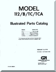 Aero Commander 112 / B / TC  / TCA Illustrated Parts Catalog  Manual, 1978