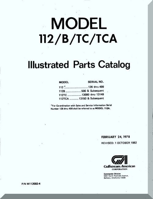 Aero Commander 112 / B / TC / TCA Illustrated Parts