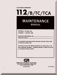 Aero Commander 112 / B / TC  / TCA Aircraft Maintenance  Manual, 1977