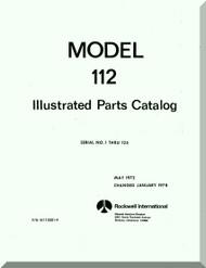 Aero Commander 112 Illustrated Parts Catalog  Manual, 1972