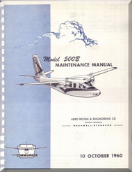 Aero Commander 500 B Aircraft Maintenance Manual - 1960