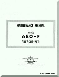 Aero Commander 680 F Aircraft Maintenance  Manual , 1962