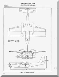 Aero Commander 680 T, V,  W  Aircraft Maintenance  Manual , 1963