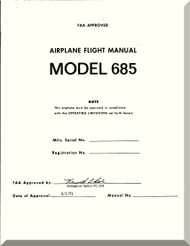 Aero Commander 685  Aircraft Flight Manual , 1971