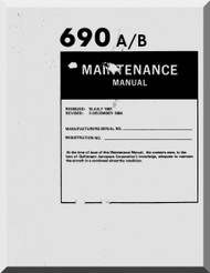 Aero Commander 685 Aircraft Maintenance Manual , 1975