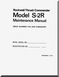 Aero Commander S-2R   Aircraft Maintenance Manual , 1971