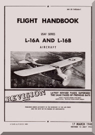 Aeronca L-16 A and L-16 B   Aircraft Flight Handbook Instruction  Manual, No. 01-145LAA-1,  1948