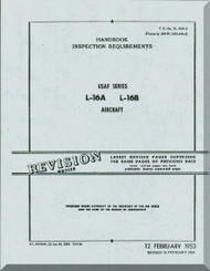 Aeronca L-16 A and L-16 B   Aircraft Inspection Requirement  Manual, No. 01-145LAA-16,  1948