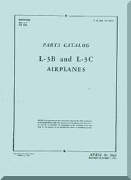 Aeronca L-3 A and L-3 B   Aircraft Parts Catalog  Manual, No. 01-145L-4,  1943