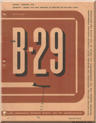 Boeing B-29 Aircraft  Pilot Training Manual - 1945