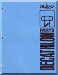 Bellanca Champion Dechatlon  Aircraft Illustrated Parts Catalog   Manual, 1978