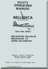 Bellanca Decathlon  Aircraft Pilot's Operating   Manual, 1978