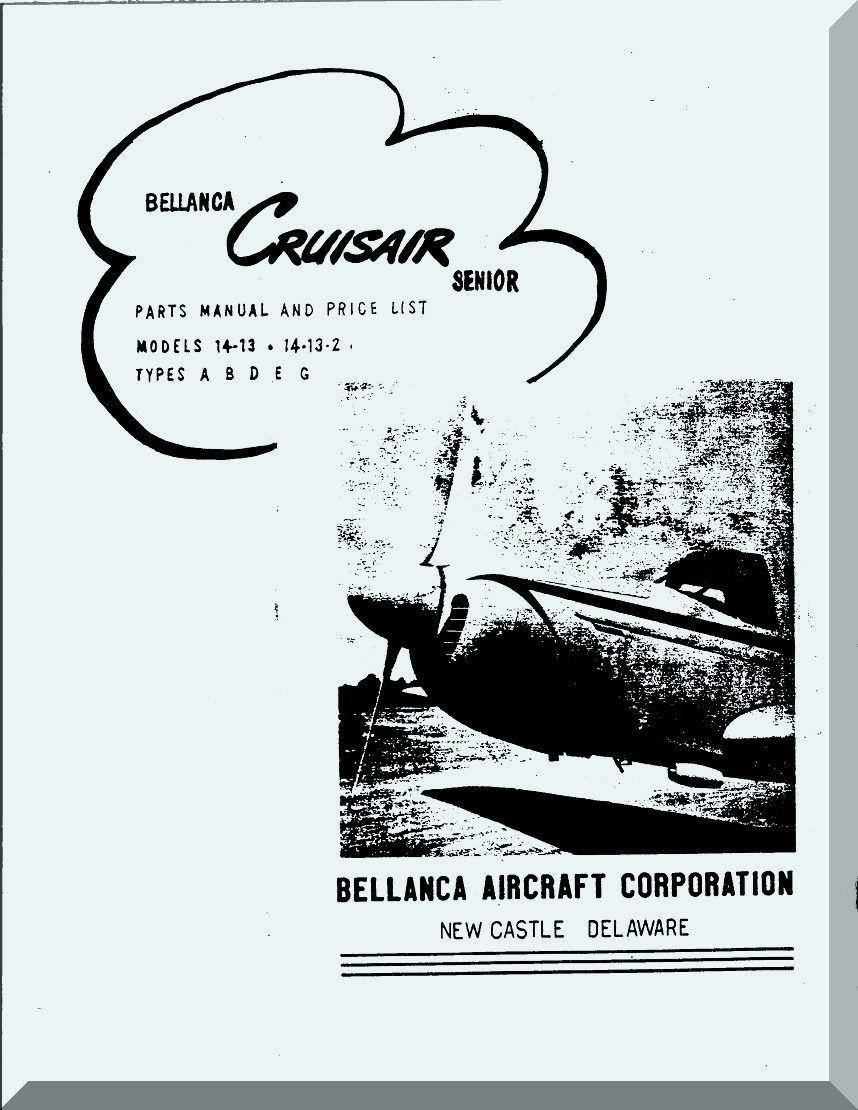 Bellanca Model CruisAir 14-13, 14-13-2 Aircraft Parts and