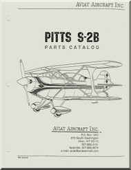 Aviat Pitts S-2B Aircraft Airplane Parts Catalog  Manual -