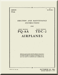 Culver PQ-8A TDC2 Aircraft  Erection and Maintenance Manual - 1943 09-5FB-2