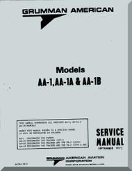 Grumman American AA-1, AA-1A & AA1B Service Manual , 1975
