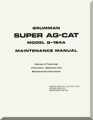 Grumman American G-146 A  Aircraft Maintenance Manual  1973