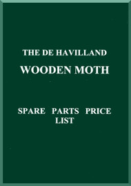 De Havilland Wooden Moth Aircraft Spare Parts Price List Manual