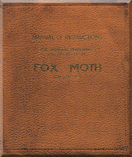 De Havilland Fox Moth   Aircraft Maintenance Manual