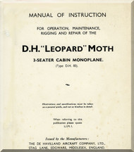 De Havilland Leopard Moth Aircraft  Maintenance Manual