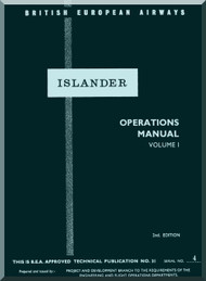 De Havilland D.H. 89 Inslander Aircraft Operator's Manual