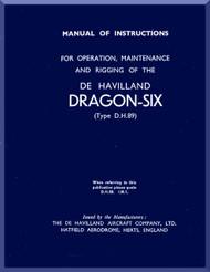 De Havilland Dragon SIX Aircraft  Maintenance Manual