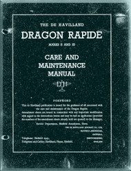 De Havilland Dragon Rapide Aircraft  Maintenance Manual