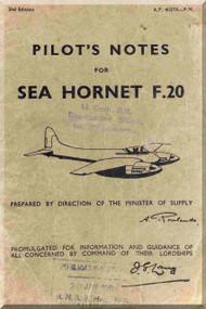 De Havilland Sea Hornet F.20 Aircraft Pilot's Notes Manual
