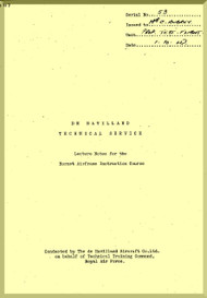 De Havilland Hornet Aircraft Technical Services Manual