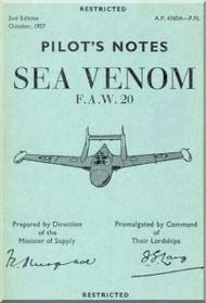De Havilland Sea Venom F.A.W 20 Aircraft Pilot's Manual
