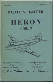 De Havilland Heron  C Mk.3 Aircraft Pilot's Note  Manual A.P. 4569C-P.N