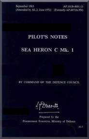 De Havilland Sea Heron Aircraft Pilot's  Notes Manual