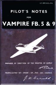De Havilland Vampire F.B.5 & F.B.9  Aircraft Pilot's Manual