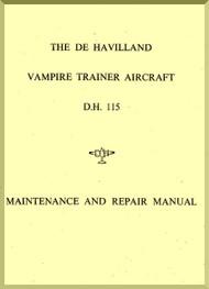 De Havilland Vampire D.H. 115  Aircraft Maintenance and Repair Manual