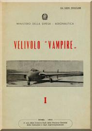 De Havilland Vampire  Aircraft Description Manual -  ( Italian Language )