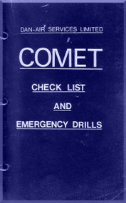 De Havilland Comet Aircraft Check List & Emergency Drills Manual