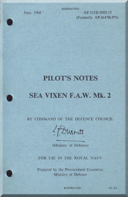 De Havilland Sea Vixen Mk.2 Aircraft Pilot's  Manual