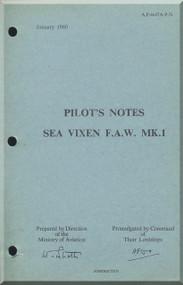 De Havilland Sea Vixen Mk.1 Aircraft Pilot's  Manual