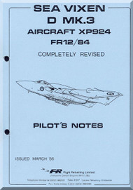 De Havilland Sea Vixen Mk.3 Aircraft Pilot's  Manual