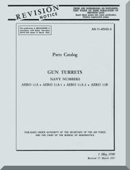 Navy  Aero 11 Gun Turrets Aircraft Parts Manual 11-45HD-3