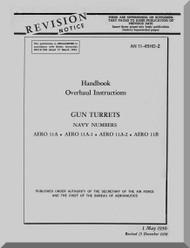 Navy  Aero 11 Gun Turrets Aircraft Overhaul Manual 11-45HD-2