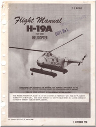 Sikorsky UH-19 A Helicopter Flight Manual 1H-19A-1 1958