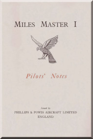 Miles Master I  Aircraft Pilot's Notes Manual
