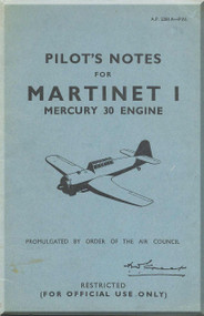 Miles Martinet I  Aircraft Pilot's Notes Manual